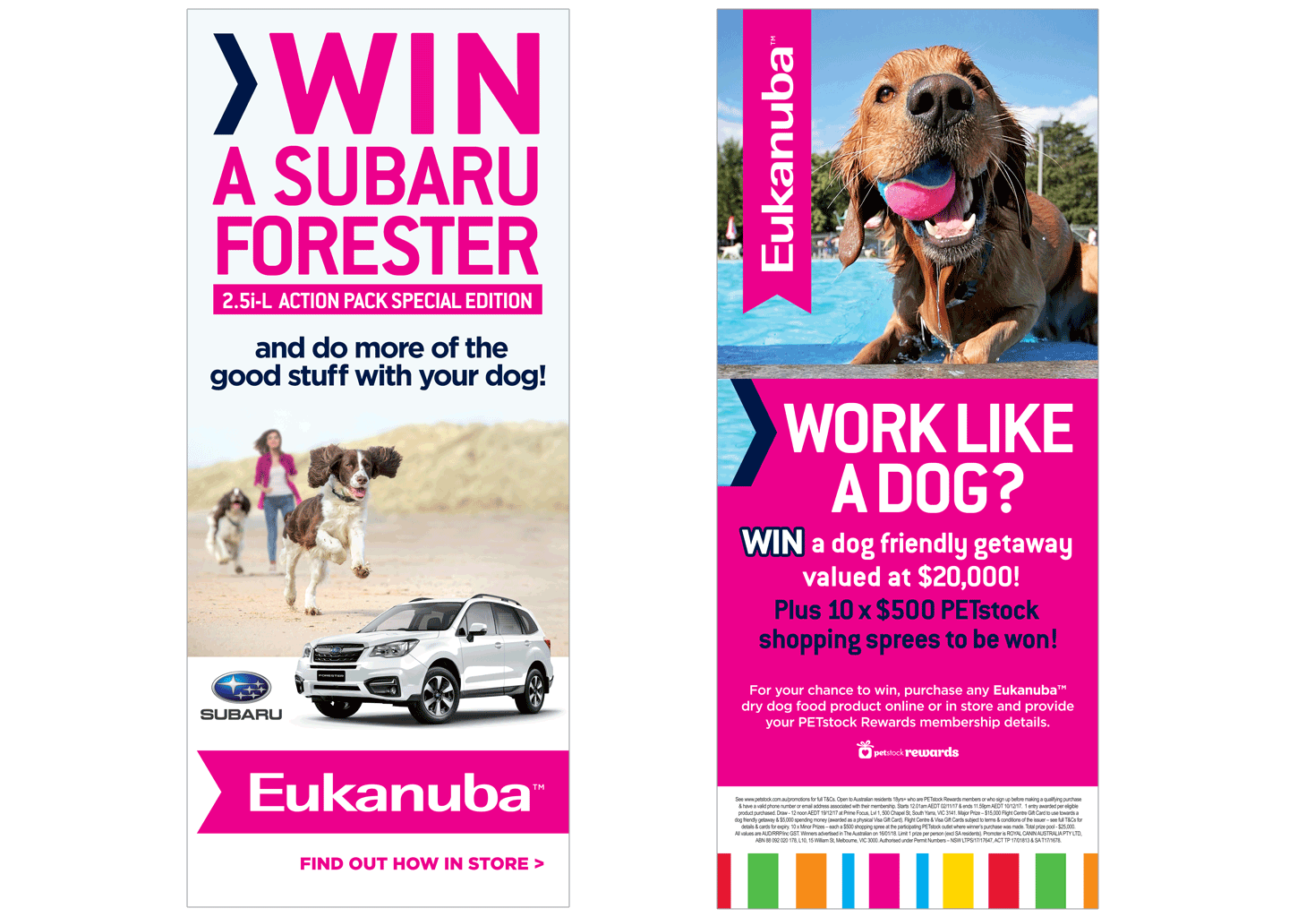 Eukanuba pull up banners