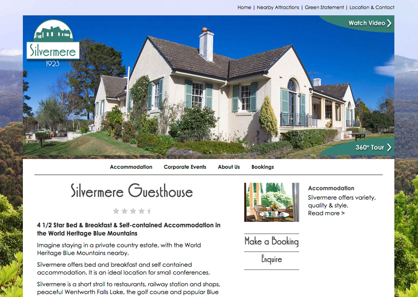 Silvermere Guesthouse website